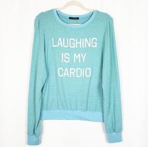 NWOT WILDFOX Laughing is My Cardio sweatshirt